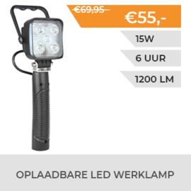 Oplaadbare LED werklamp met magneetvoet