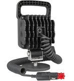 LED Werklamp Verstraler 2500LM + Kabel + Schakelaar + Sigarettenplug achterkant