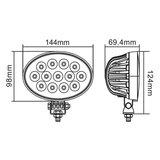 39W LED werklamp 90° 3510LM_