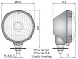 koplamp Ø161x115, H4, plastic, rechts_