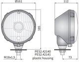 koplamp Ø161x115, H4, plastic_