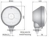 koplamp Ø161x115, H4, metaal_