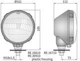 koplamp, H4, Ø161x112 metaal links_