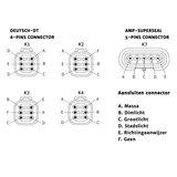 LED Koplamp Met Achtermontage Rechts + AMP-Superseal_