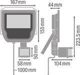 20W LED Bouwlamp 230V + Sensor_