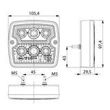 Horpol LED Achterlicht Vierkant 5P LZD 2102_