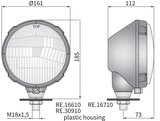 koplamp H4 Ø161x112 mm Rechts_