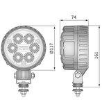 LED Werklamp Breedstraler 1500LM + Kabel + Schakelaar afmetingen