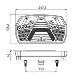 Led Achterlicht Rechts 6 Functies + Dynamische Richtingaanwijzer 7-Pins AMP Connector_