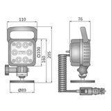 LED Werklamp Verstraler 1500LM + Kabel + Schakelaar + Sigarettenplug_