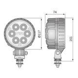 LED Werklamp Verstraler 2500LM + AMP Faston_