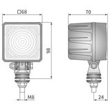 Wesem LED Werklamp 800LM Vierkant + Deutsch-DT_