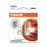 Osram W5W Gloeilamp 12V W2.1x9.5d Original Line 2 Stuks_