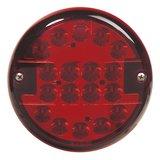 LED mistlamp rond 9-33V Rode Lens_
