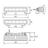 Osram LED Lightbar Slim SX180-SP 18CM_