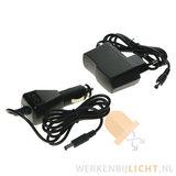 12 volt en 230 volt werklamp adapter