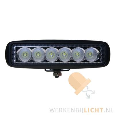 18W LED breedstraler rechthoekig + M12 Connector