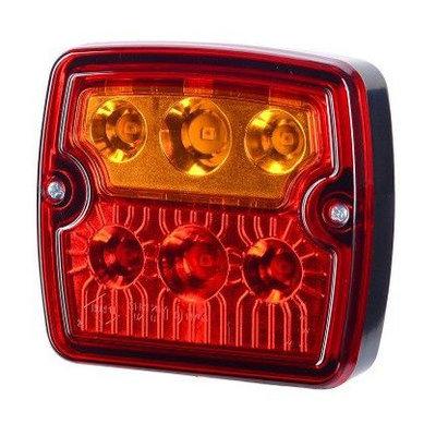 LED Achterlicht Vierkant 12-24V