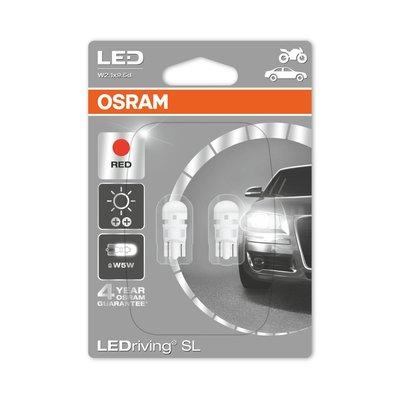 Osram W2.1x9.5d LED Retrofit Rood Set 12 volt