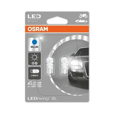 Osram W2.1x9.5d LED Retrofit Blauw Set 12 volt
