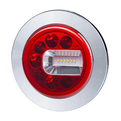 Horpol LED Mist- en Achteruitrijlamp Rechts Chrome LUNA LZD 2453