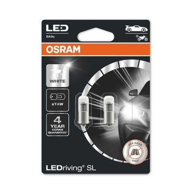 Osram T4W LED Retrofit Wit 12V BA9s 2 Stuks