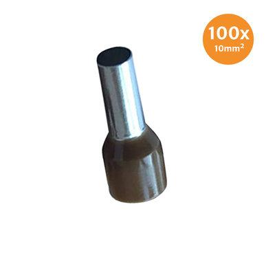 Adereindhuls Geïsoleerd 10mm² Bruin 100 stuks