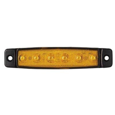 LED Zijmarkering oranje kort 12V