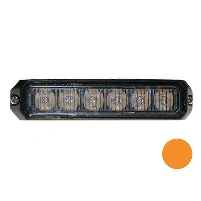 LED flitser 6-voudig compact Oranje