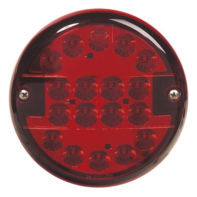 LED mistlamp rond 9-33V Rode Lens
