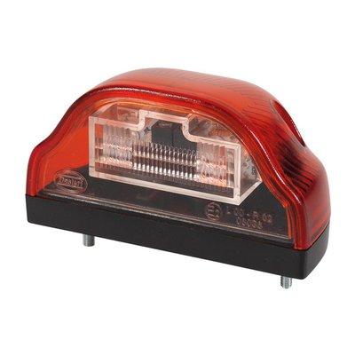 LED Kentekenverlichting Rood 24V