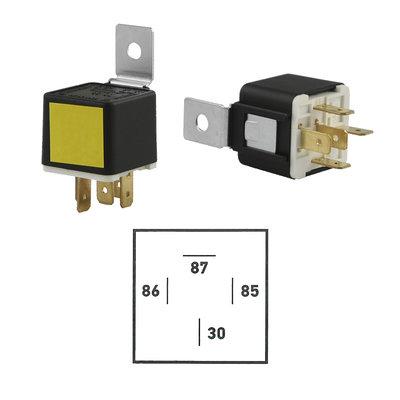 12 Volt Contact-Maak Relais 30A