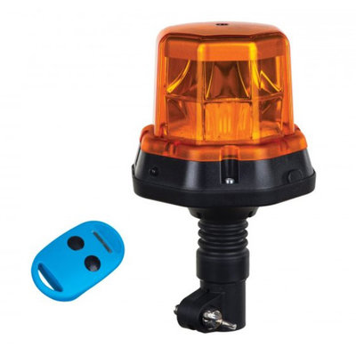 Horpol LED Flitslamp  + Afstandsbediening DIN-Steun Oranje LDO 2279