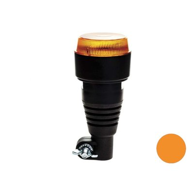 Led flitslamp Met Flexibele DIN Steun Oranje