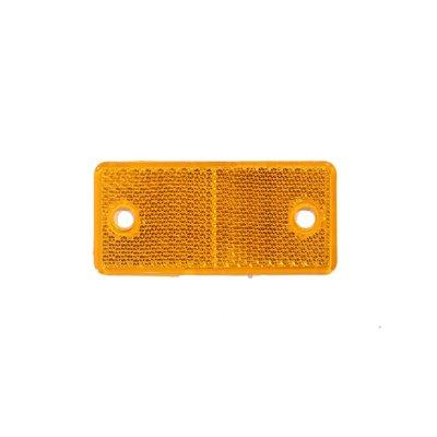 Reflector rechthoekig Oranje 4,4 X 9,4 CM