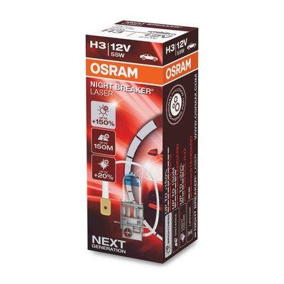 Osram H3 Halogeenlamp 12V 55W PK22s Night Breaker Laser