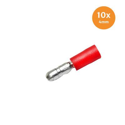 Rondsteker Geïsoleerd Rood (0.5-1.5mm) 10 Stuks