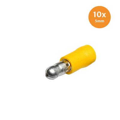Rondsteker Geïsoleerd Geel (4-6mm) 10 Stuks