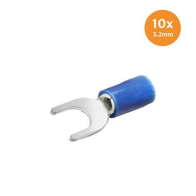 Vorkkabelschoen Blauw 3.2mm 10 Stuks