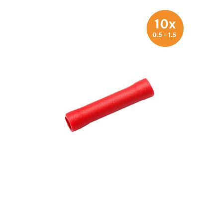 Doorverbinder Geïsoleerd Rood (0.5-1.5mm) 10 Stuks