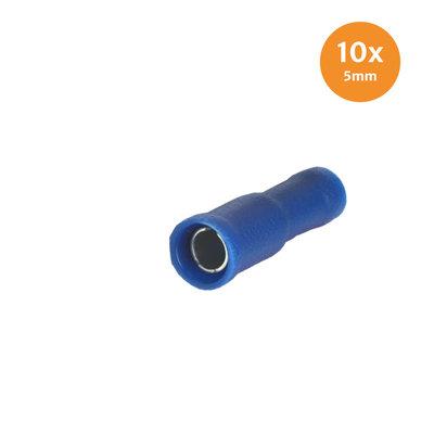 Rondstekerhuls Geïsoleerd Blauw 5mm (1,5-2,5mm) 10 Stuks
