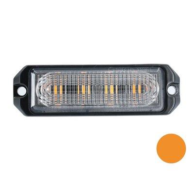 LED flitser 4-voudig ultra flat oranje