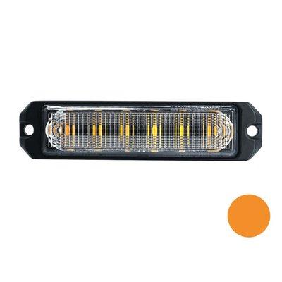 LED flitser 6-voudig ultra flat Oranje