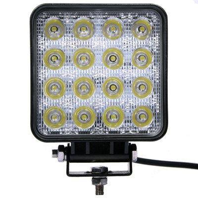 48W LED Werklamp Vierkant Basis