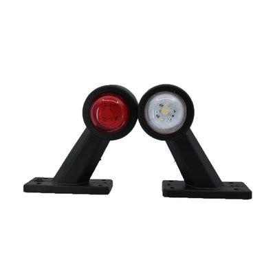 Set LED Breedtelampen schuin kort 10-30V Rood + Wit (Set)