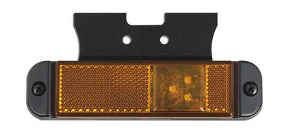 LED Zijmarkering Oranje met reflector en beugel