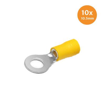 Ringkabelschoen Geel 10.5mm 10 Stuks