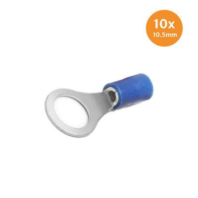 Ringkabelschoen Blauw 10.5mm 10 Stuks
