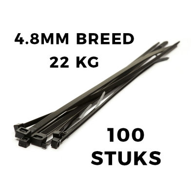 Kabelbinders 160x4,8 zak 100 stuks