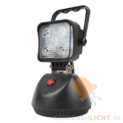Draagbare 15W led werklamp met magneetvoet